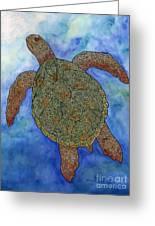 Watercolor Tribal Turtle  Greeting Card by Carol Lynne