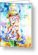 Watercolor Woman.18 Greeting Card by Fabrizio Cassetta