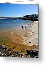 Watercolors At The Beach Greeting Card by Kaye Menner
