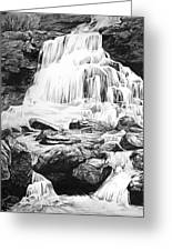 Waterfall Greeting Card by Aaron Spong