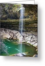 Waterfall At Hamilton Pool Greeting Card by David Morefield