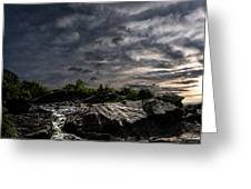 Waterfall at Sunrise Greeting Card by Bob Orsillo