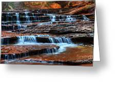 Waterfall Cascade North Creek Greeting Card by Bob Christopher