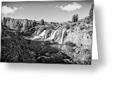 Waterfall Greeting Card by Emirali  KOKAL