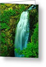 Waterfall In Hood River Oregon Greeting Card by Jeff  Swan