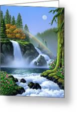 Waterfall Greeting Card by Jerry LoFaro