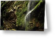 Waterfall Greeting Card by Mariusz Zawadzki