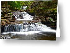 Waterfall Oasis Greeting Card by Frozen in Time Fine Art Photography