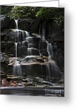 Waterfall On Small Stream Greeting Card by Dan Friend