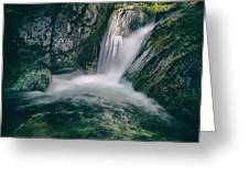 waterfall Greeting Card by Stylianos Kleanthous