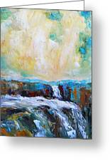 Waterfalls 2 Greeting Card by Becky Kim