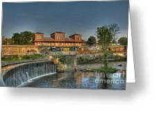 Waterfalls And Train Greeting Card by Jim Lepard