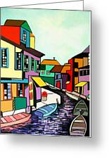 Waterfront Greeting Card by Anthony Falbo