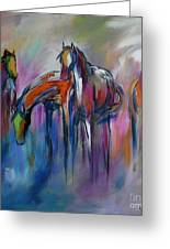Watering Hole Greeting Card by Cher Devereaux