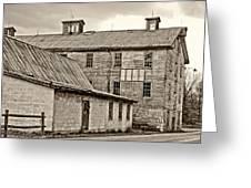 Waterside Woolen Mill Greeting Card by Steve Harrington