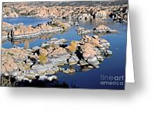 Watson Lake And The Granite Dells Greeting Card by Jim Chamberlain