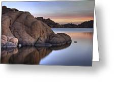 Watson Lake Arizona Colors Greeting Card by Dave Dilli