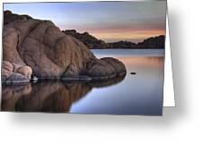 Watson Lake Arizona Colors Greeting Card by Dave Dilli