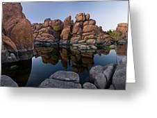 Watson Lake Arizona Reflections Greeting Card by Dave Dilli