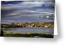 Watson Lake Greeting Card by James Bethanis