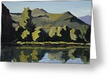 Watson Lake Greeting Card by Mary Giacomini