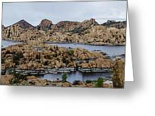 Watson Lake Greeting Card by Richard Henne
