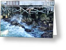 Wave Action Greeting Card by Susan Wiedmann
