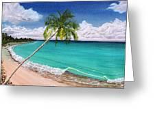 Wave Break Beach Greeting Card by Kevin F Heuman