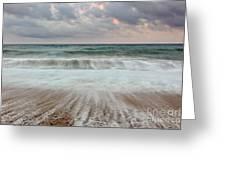 Wave Drag Greeting Card by Richard Thomas