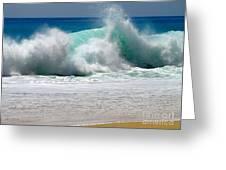 Wave Greeting Card by Karon Melillo DeVega