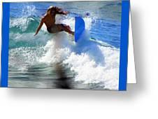 Wave Rider Greeting Card by Karen Wiles