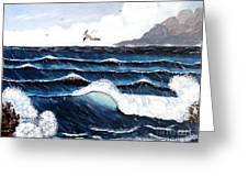 Waves And Tern Greeting Card by Barbara Griffin