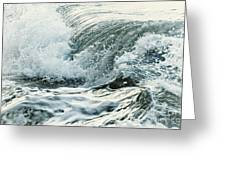 Waves In Stormy Ocean Greeting Card by Elena Elisseeva