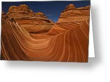 Waves Of Sandstone Greeting Card by Kenan Sipilovic
