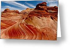 Waves Of Time Greeting Card by Alan Socolik