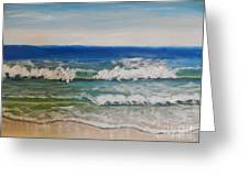 Waves Greeting Card by Pamela  Meredith