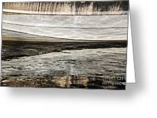 Wavy Reflections Greeting Card by Sue Smith