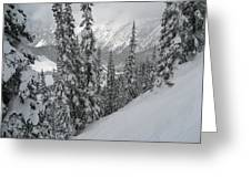Way Up On The Mountain Greeting Card by Kym Backland