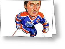 Wayne Gretzky Greeting Card by Art