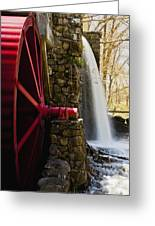 Wayside Grist Mill Greeting Card by Dennis Coates