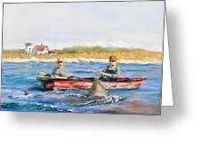 We Need A Biggah Boat Greeting Card by Jack Skinner