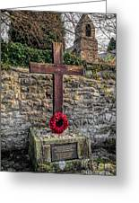 We Will Remember Greeting Card by Adrian Evans