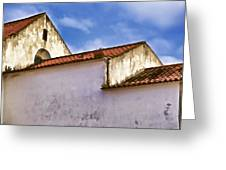Weathered Barn Of Medieval Europe Greeting Card by David Letts