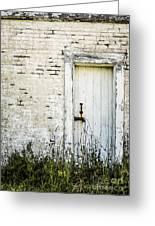 Weathered Door Greeting Card by Diane Diederich