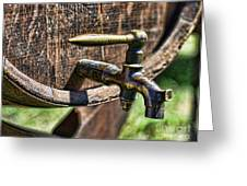 Weathered tap and barrel Greeting Card by Paul Ward