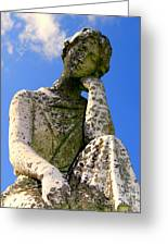 Weathered Woman Greeting Card by Ed Weidman