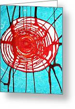 Web Of Life Original Painting Greeting Card by Sol Luckman
