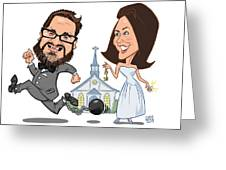 Wedding Beer Label Greeting Card by Chris Berg