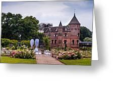 Wedding Setting In De Haar Castle. Utrecht Greeting Card by Jenny Rainbow