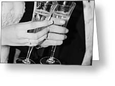 Wedding Toast Greeting Card by Valerie Loop